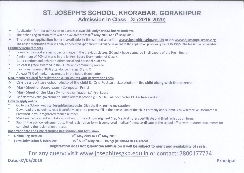St Joseph's School Khorabar, Gorakhpur